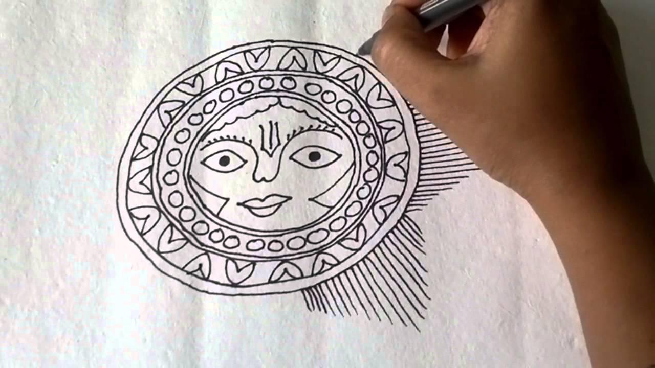 How To Draw Madhubani Art