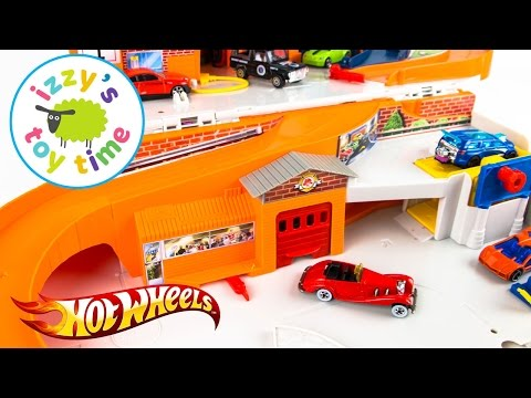 Hot Wheels Sto & Go and Fast Lane Playset | Cars for Kids
