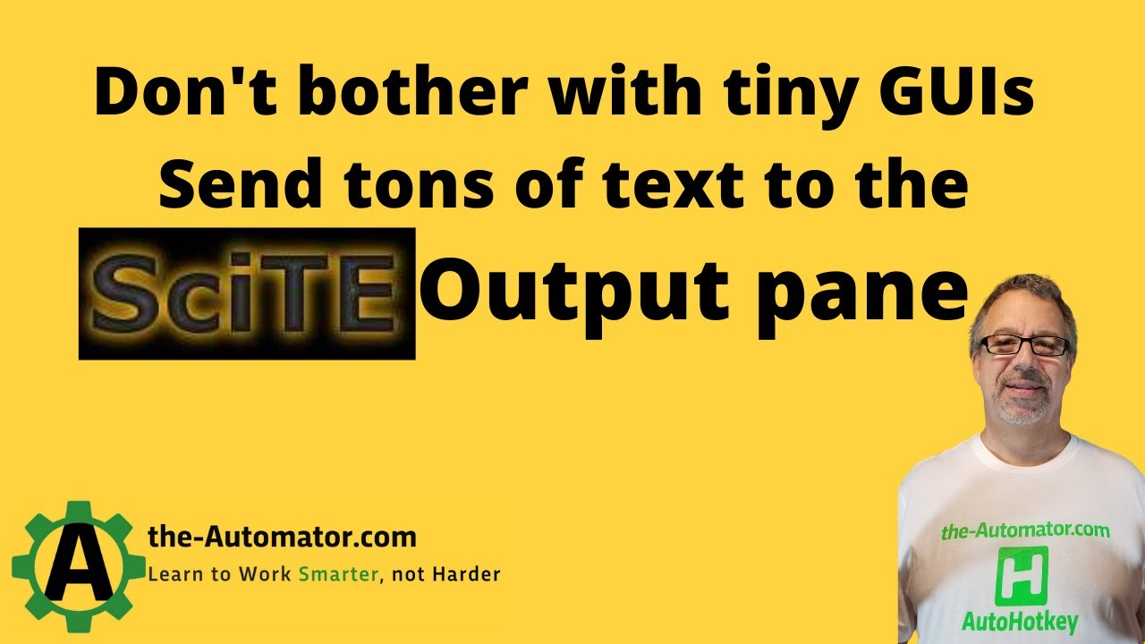 scite editor via com objects | Automating my world