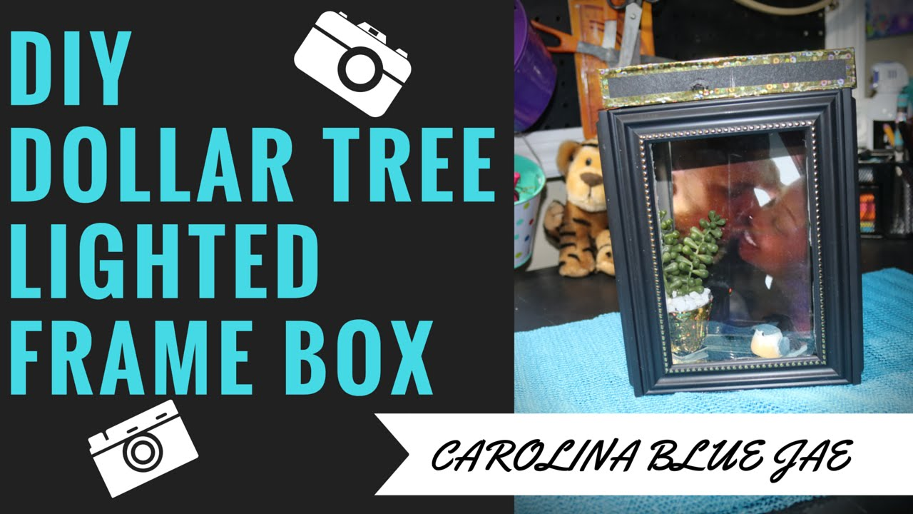 DIY #9- DOLLAR TREE LIGHTED FRAME BOX - YouTube