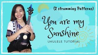 You Are My Sunshine Ukulele Tutorial ☀️ (2 Strumming Patterns) 🎸