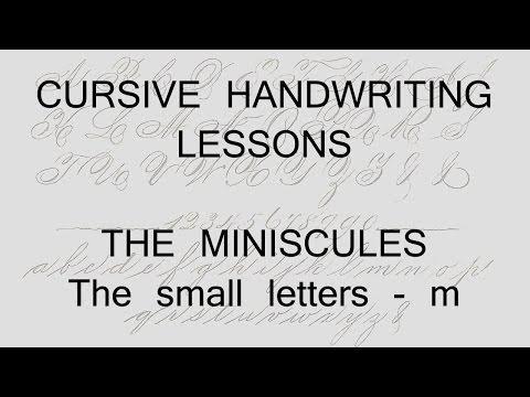 cursive lesson 8 - m - handwriting penmanship calligraphy copperplate