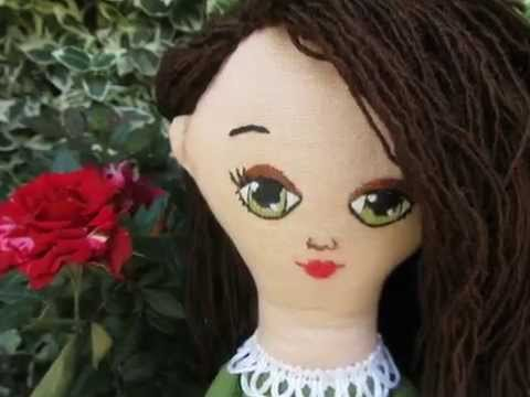 """DIY Cloth doll pattern """"Sunny Girl"""", hand embroidered face ..."""