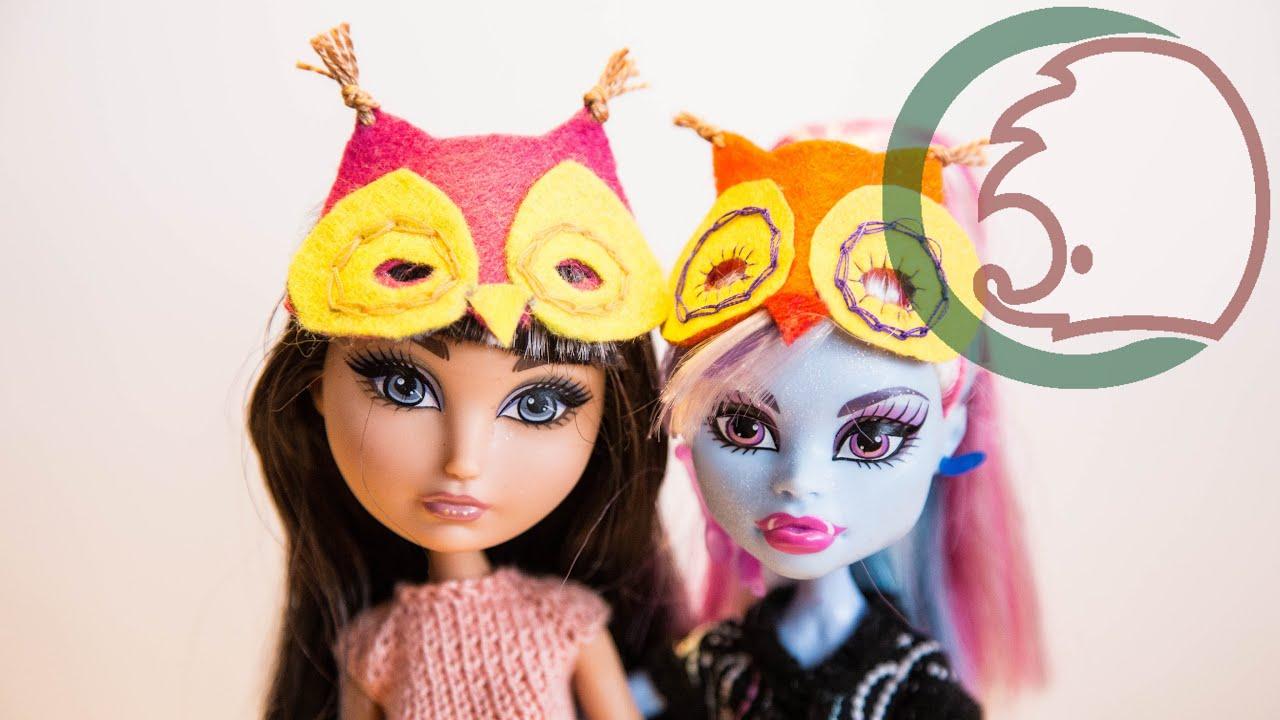 Как сделать маску для кукол фото 507