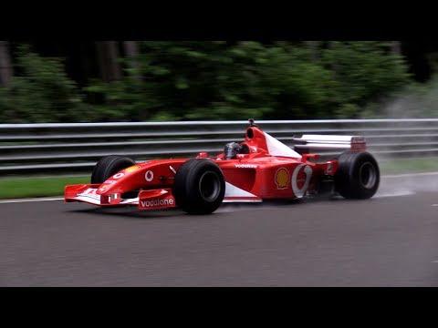Ferrari F1 V8 & V10 Engine SOUND!! Fly By