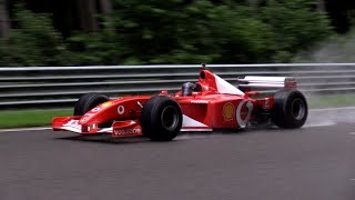 Ferrari F1 V8 & V10 Engine SOUND!! Fly By's!
