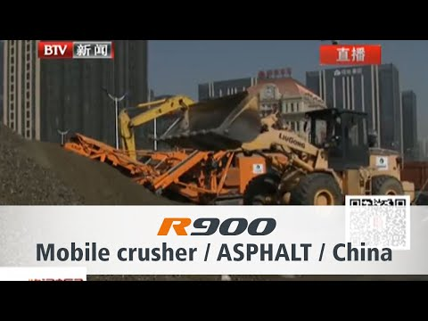 Rockster Impact Crusher R700S in China Beijing TV