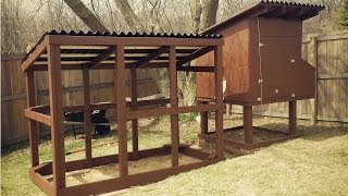 Easy to Clean Backyard Suburban Chicken Coop - Free plans