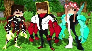 BEN 10 KARAKTERLERİ OLDUK! 😱 - Minecraft