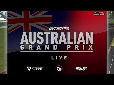Automobilista WRL Formula Waga 2018 Broadcasts - Round #1, Australia