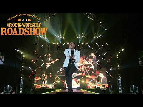Newsboys performing live at The Rock & Worship Roadshow 2016