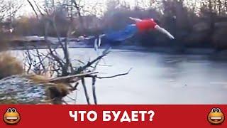 Идиот решил понырять в ледяную реку (Смотреть видео онлайн HD)