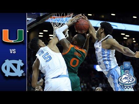 Miami vs. North Carolina 2017 ACC Basketball Tournament Highlights