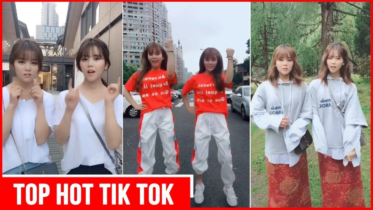 Tiệp Nhi & Dư Nhi - Cute Twin Sister in Tik Tok China - Pretty Girl Tik Tok Compilation