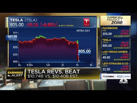 Tesla earnings miss on bottom line, but revenues come in higher than estimates