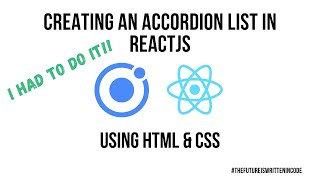 Creating a ReactJS Animated Accordion List Component in HTML & CSS