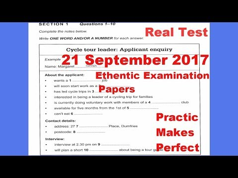 IELTS Listening Practice Test 2017 With Answers | 21 September 2017