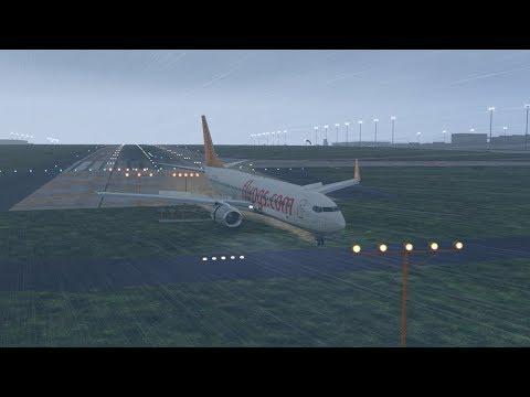 Pegasus Airlines B737 broke into three pieces after skidding off runway at Sabiha Gokcen [XP11]