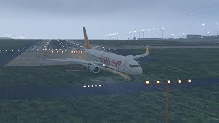 Pegasus Airlines B737 broke into three pieces after skidding off runway at Sabiha Gokcen [XP11]