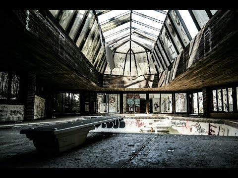 ABANDONED MANSION WITH TENNIS COURT AND POOL