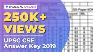Upsc prelims answer key 2019