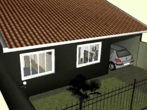 Casa c 72 75 m garagem e ed cula youtube for Modelos de casa pequenas para construir