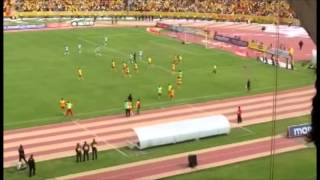 Relato de gol del Aucas vs Liga de Portoviejo