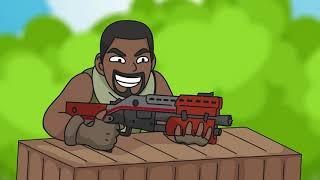 Fortnite Animation #6: Best Dodge Bullets Ever (Parody)