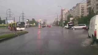Летний дождь. Питер. 17.07.2015. Ириновский проспект.