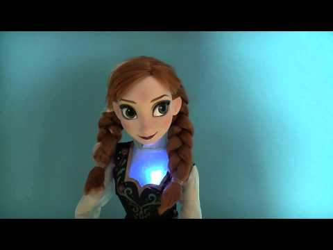 Disney Frozen Singing Musical Anna Doll Official Disney Store Light up Anna