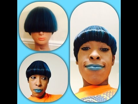 How To Make A Mushroom Bowl Cut Quick Wig Youtube