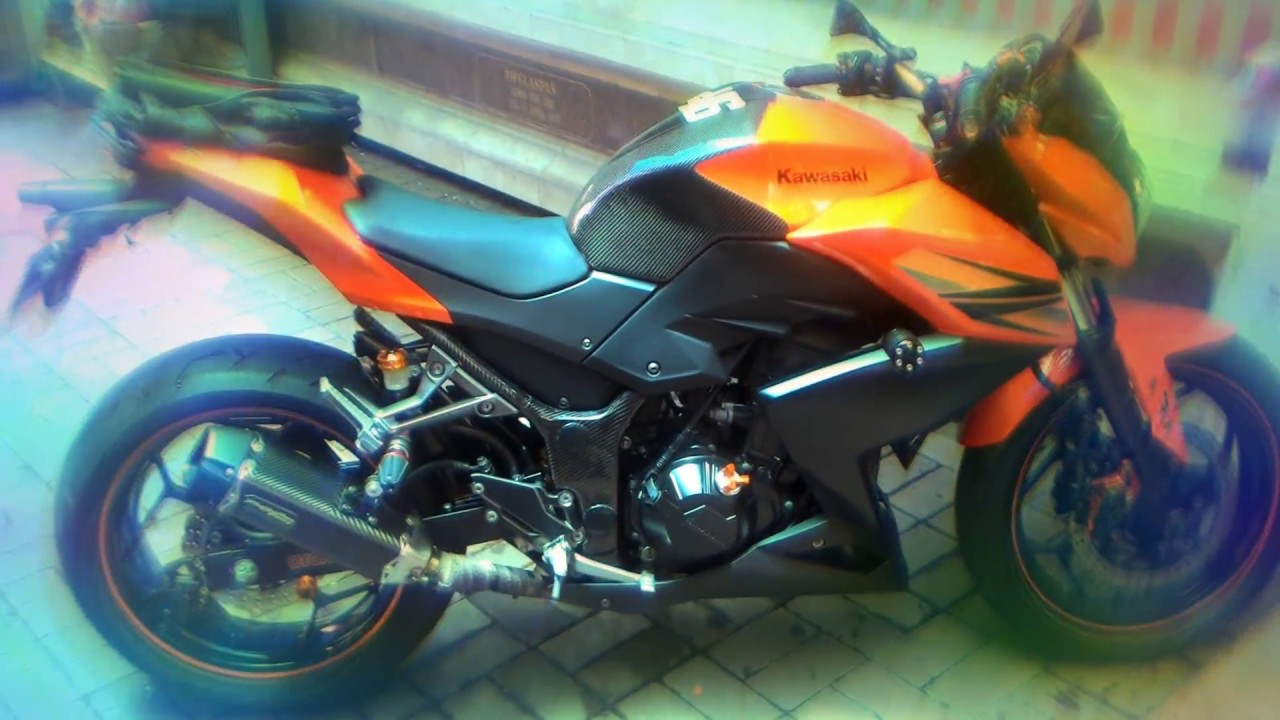 Kawasaki Z250 Fi Orange Modif Minimalis Two Brother Exhaust By AwanZ Legian
