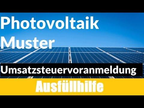 Umsatzsteuervoranmeldung Elster Photovoltaik | Umsatzsteuervoranmeldung Photovoltaik Muster
