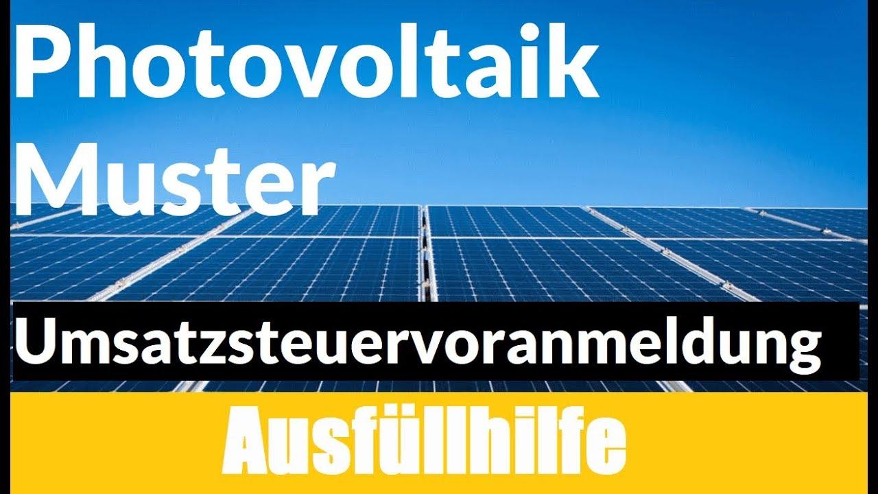 umsatzsteuervoranmeldung elster photovoltaik umsatzsteuervoranmeldung photovoltaik muster - Umsatzsteuererklarung Photovoltaik Muster