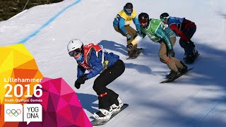 Snowboarding - Snowboard Cross - Full Replay | Lillehammer 2016 Youth Olympic Games