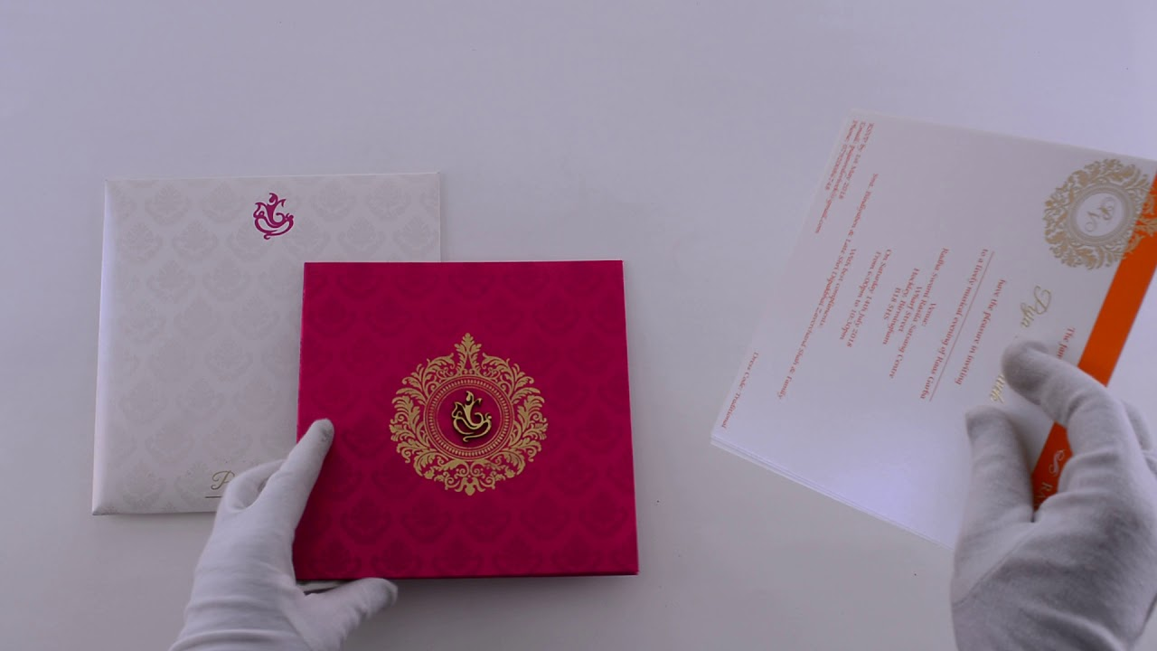Elegant wedding invites | 9457 | Madhurash Cards - YouTube