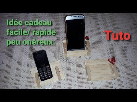 Tuto Support telephone/ facile et rapide/ une jolie idée cadeau pour quelques centimes.