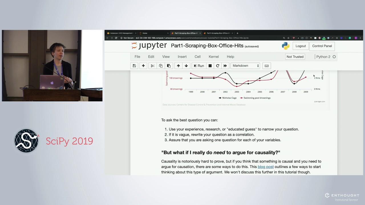 Image from Lights Camera Action! Scrape, Explore, and Model to Predict Oscar Winners | SciPy 2019 | Hanus
