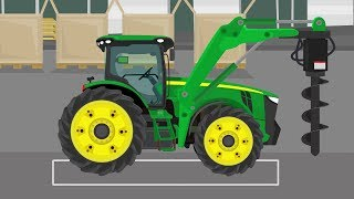 #Tractor with a drill to the ground - Delivery and assembly of a green TRAKTORA -  PART 1