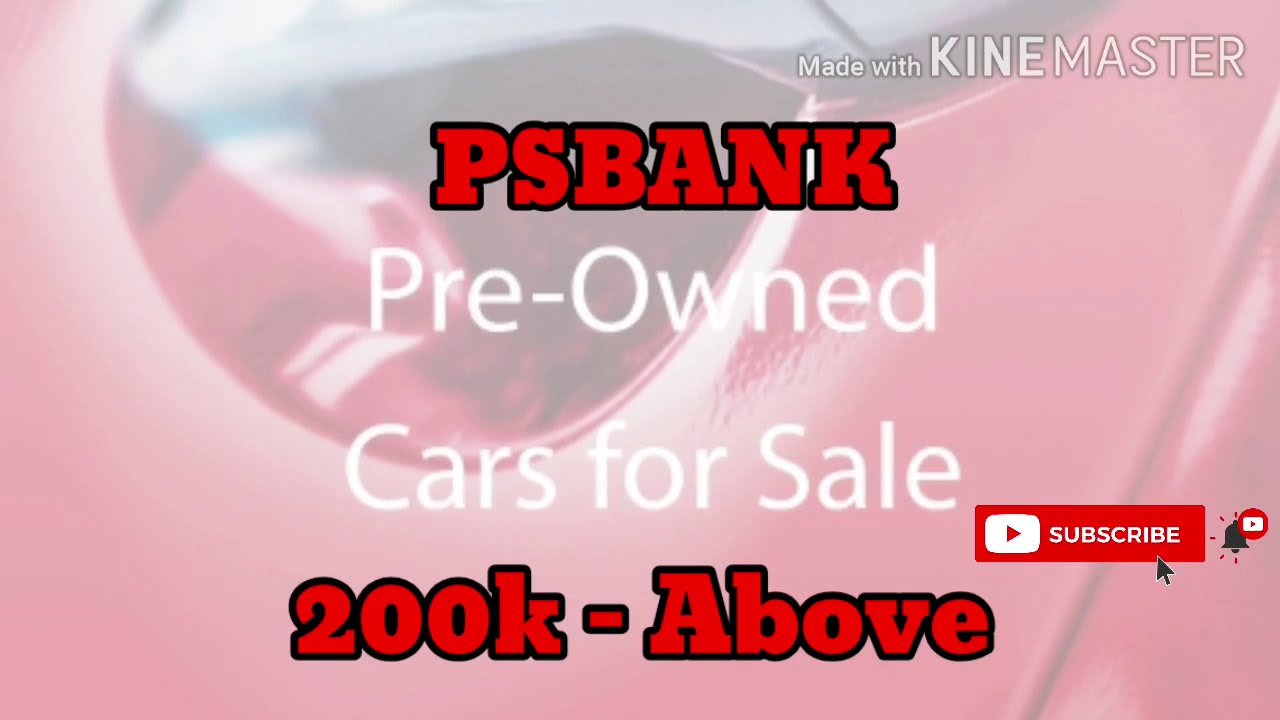 2020 Psbank Repossessed Cars For Sale