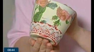 як зробити з пластинок горщик для квітів