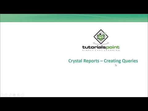 SAP Crystal Reports - Creating Queries