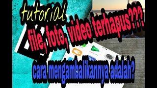 Tutorial mengembalikan file, foto, video, dll yang telah terhapus tampa root!!!!