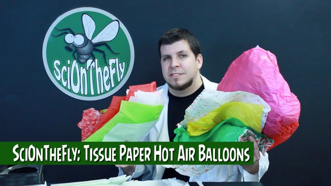 tissue paper hot air balloons Science and engineering practices: developing and using models, constructing explanations and designing solutions lesson overview in this activity, students work in teams to construct a hot air balloon out of tissue paper to demonstrate how a hot air balloon fliesааthey will develop a conceptual model to explain.