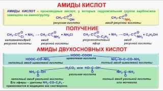 № 163. Органическая химия. Тема 25. Амиды кислот. Часть 1. Амиды кислот. Амиды двухосновных кислот