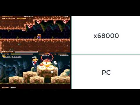 Buster [x68000] Vs Buster [Pc] バスター Comparison