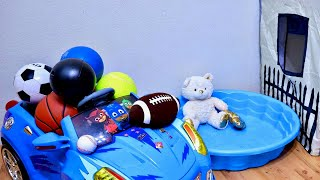 Learn Sport Ball Names with Playhouse for Baby and Toddler