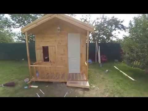 Детский деревянный домик,как сделать?