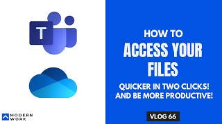 How to access OneDrive for Business Files using Microsoft Teams. Productivity Tip | VLOG 66
