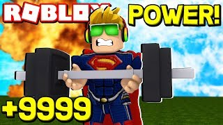 PUMPING BICEPS IN ROBLOX SUPER HERO TRAINING SIMULATOR / BLOX4FUN